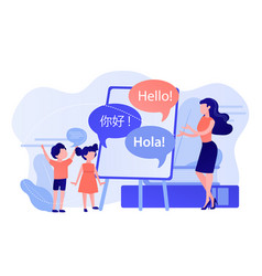 Language learning camp concept vector