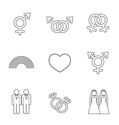 LGBT symbol icon vector image vector image
