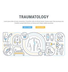Linear banner traumatology vector