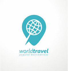 Logo idea for travel agency vector