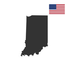map of the us state of indiana vector image vector image