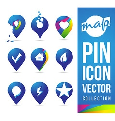 Map Pins Icon vector image