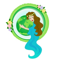 mother nature vector image