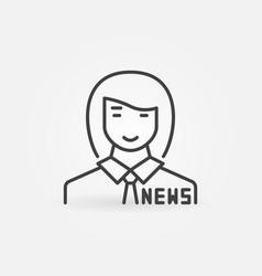 News anchor woman concept outline icon vector