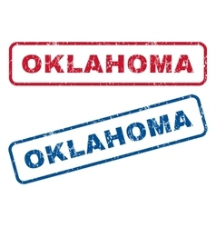 Oklahoma Rubber Stamps vector