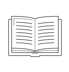 open student book line icon vector image