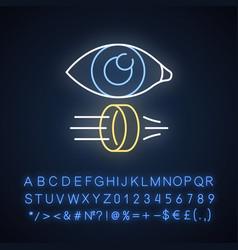 Optics neon light icon optometry vector
