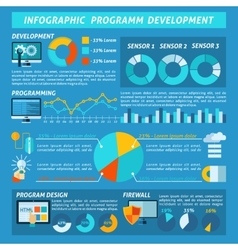 Program Development Infographics vector