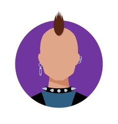 Punk Male avatar vector image