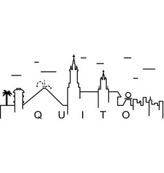 quito outline icon can be used for web logo vector image