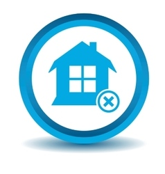 Remove house icon blue 3d vector