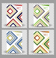 Set of abstract geometric design banner web vector