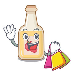 shopping apple cider isolated with mascot vector image
