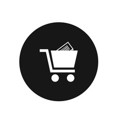 shopping cart icon simple car sign vector image