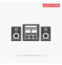 Sound System simple flat icon vector image