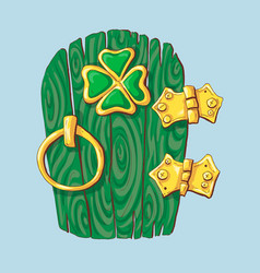 special door hanger for st patrick s day vector image