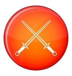 Swords icon flat style vector