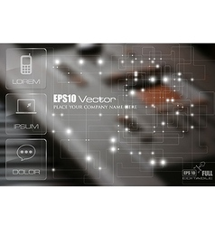 Technology theme template vector