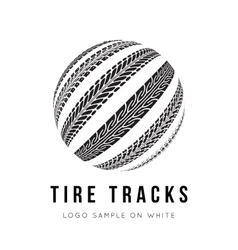 Tire track background vector image