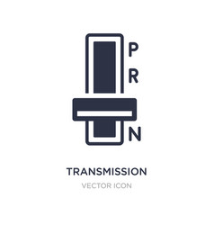 Transmission icon on white background simple vector