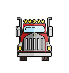 truck in flat style on a white background vector image