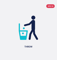 Two color throw icon from hygiene concept vector