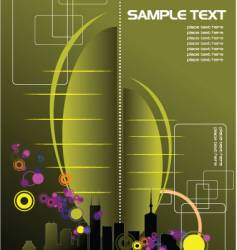 Urban abstract composition vector