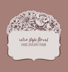 vintage style floral frame vector image