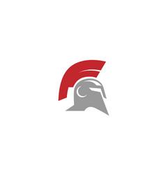 warrior helmet logo vector image