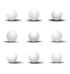 white 3d sphere set with shadows vector image