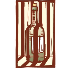 Wine Bottle 1 vector image