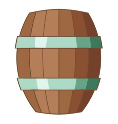 wooden barrel icon cartoon style vector image