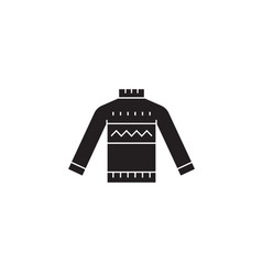 Wool sweater black concept icon wool vector