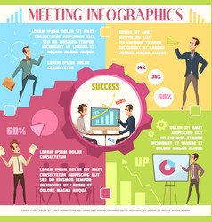 business meeting infographic set vector image vector image