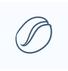 Coffee bean sketch icon vector image vector image