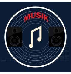 Musical album vector image