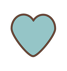 romantic love ribbon decoration vector image