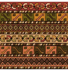 vintage ethnic hand-drawn seamless pattern vector image vector image