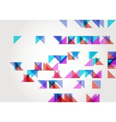 Abstract Triangle Geometric Background Template vector image