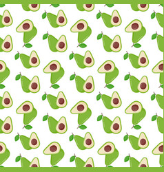 avocado seamless pattern vector image vector image