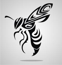 Bee Tattoo Design vector image vector image