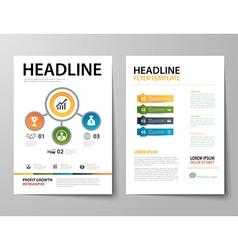 Set of business magazine cover flyer brochure vector