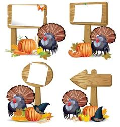 Thanksgiving turkey board vector