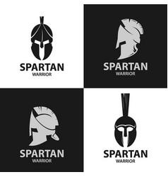 helmets spartan warriors icon vector image vector image