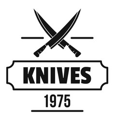 knife logo simple black style vector image