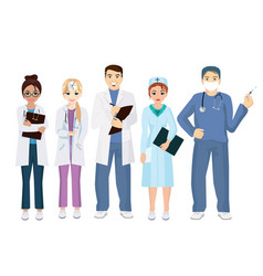 team doctors on a white vector image