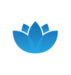 blue lotus spa logo vector image vector image