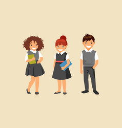 group of pupils vector image