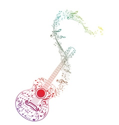 Guitar and Music Notes7 vector image vector image