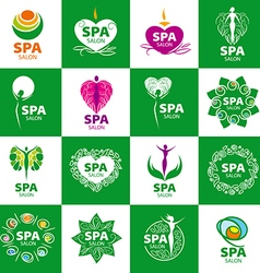 large set of logos for spa salon vector image
